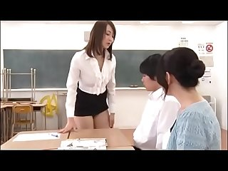Japanese MILF teacher teachs student for sex in front of student\'s mother - Pt2 On FilfCam.com