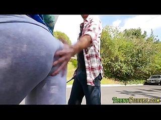 Big butt black babe rides