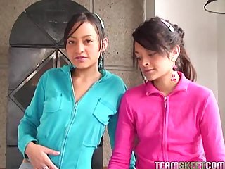 Two lovely latinas tami fabiana and diana delgado facialized after getting fucke