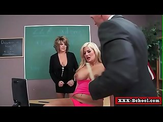 Big tits schoolgirl sucking and fucking cock at school 12