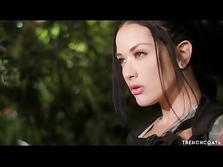 Katrina jade as tomb raider taking a big cock fucking