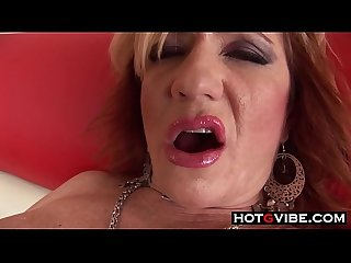 White Grandma Loves The BBC Creampie Big Black Cock Stud
