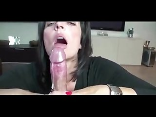 amateur milf sucking husband cock on cam