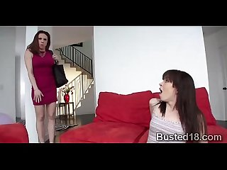 Naughty brunette nanny learns to blowjob from a naughty milf000 2