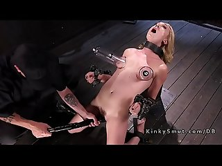 Suctioned nipples blonde hard fucked