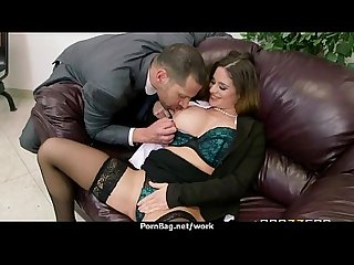 Milf was hard fucking on office desk 15