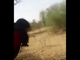 Desi Aunty having fun in jungle 117