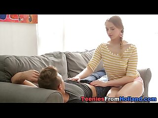 Massaged dutch teen jizz
