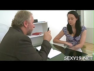 Old teacher is having enjoyment fucking youthful babe S chaste twat