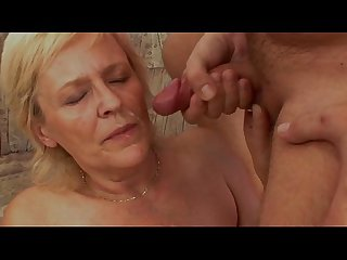 Oksana a grandmother blond fuck