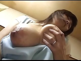 Japanese Mature big tits masturbating