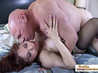 Super Hot Mature redhead handles cock like a pro