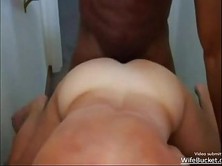 Real wife getting some big black cock action
