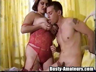 Busty helena sucking cock like a champ