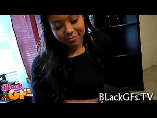 Worthwhile black girl looks cute on cock