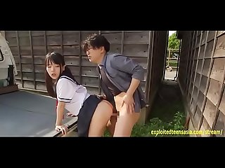 Jav Idol Abe Mikako Fucks On The Back Of Mini Van Truck