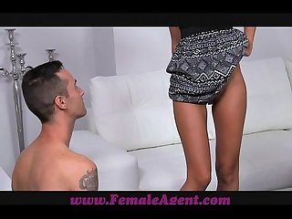Femaleagent amazing casting with delicious skinny stud