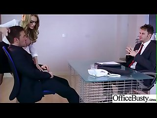 (Stacey Saran) Round Big Boobs Office Girl Love Hardcore Sex clip-26