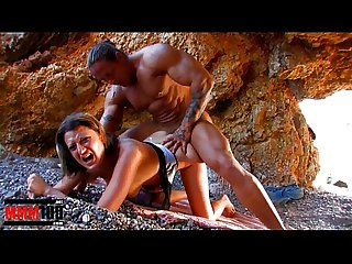Busty french slut gets fucked hard a Muscle Man with big cock
