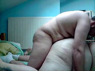 Chubby BBW wife fucked by husband in front of cam