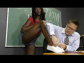 Black student seduces her teacher into becoming her slave ana foxxx femdom