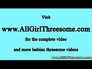 Lucky slut has two petit lesbians for herself to kiss