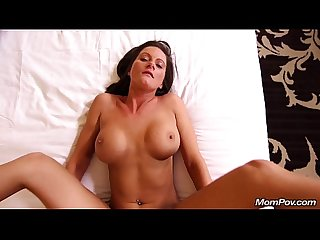 Tan perfect ass milf gets a pov creampie