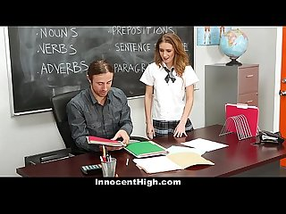 Innocenthigh schoolgirl maci winslett fucks for the grade