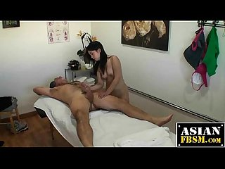 Asian masseuse caught fucking for a tip