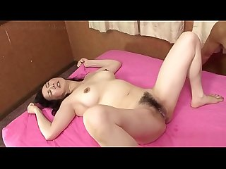 Hairy Japanese Mature craves young Cock for Creampie