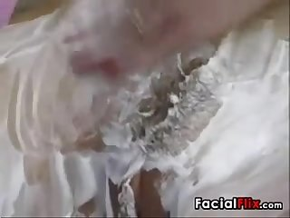 Fresh Shaved Pussy Fucking And Facial