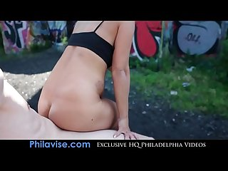 Philavise milfs alyssa lynn sits on A big cock in public