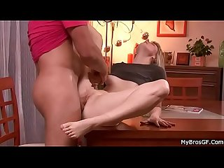 Girlfriend takes his brother S cock