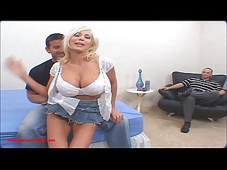 Swingerswatching com blond milf huge tits gets fuck hard friend front of husband