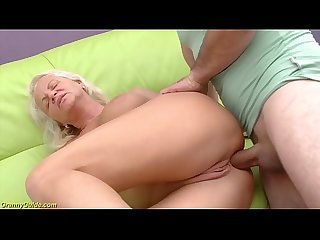 Hot 73 years old mom first big cock anal fuck