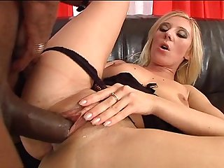 Filthy blonde slut noell farts balls and takes huge cock in her ass