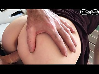Amateur couple fucking on the front porch