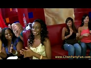 Cfnm ebony babe gets a cumshot
