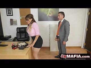 Bad Black Secretary Cassidy Banks Turned On By Her Boss� Big Dick