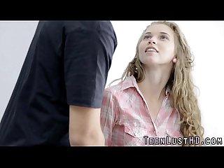 Teen face cum sprayed