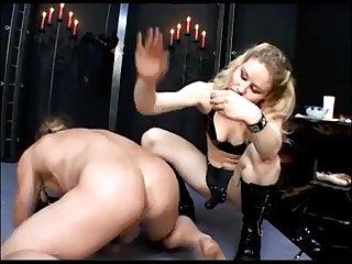 Blonde with strapon more at fem69 tk