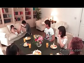 Ayaka Haruyama crazy Japan group sex along friends