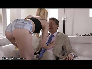 SweetSinner Kenna James Tricks Older Man Into Fucking Her!