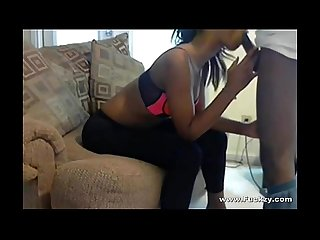 Real amateur ebony suck fuck sextape