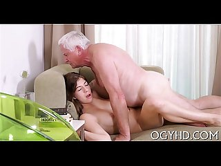 Lustful old boy bonks young angel