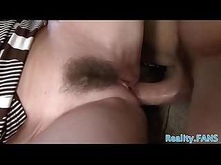 Busty hairy cougar getting banged