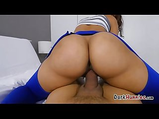 Ripping kitty catherine yoga pants to free that big bootie