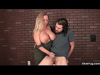 clubtug-Busty milf handjob treatment