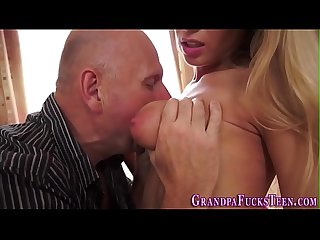 Teen spunked by old perv