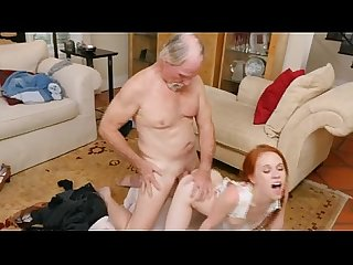 Redhead Dolly Little Takes Old Mans Dink Doggystyle